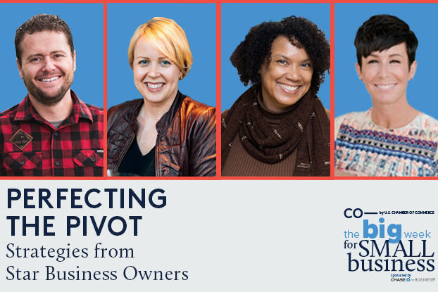 screenshot of panelists from The Big Week for Small Business 2020