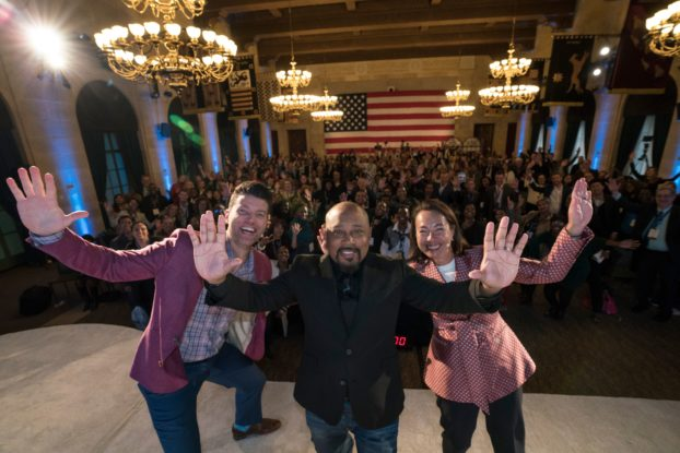 Daymond John with the crowd at CO— summit