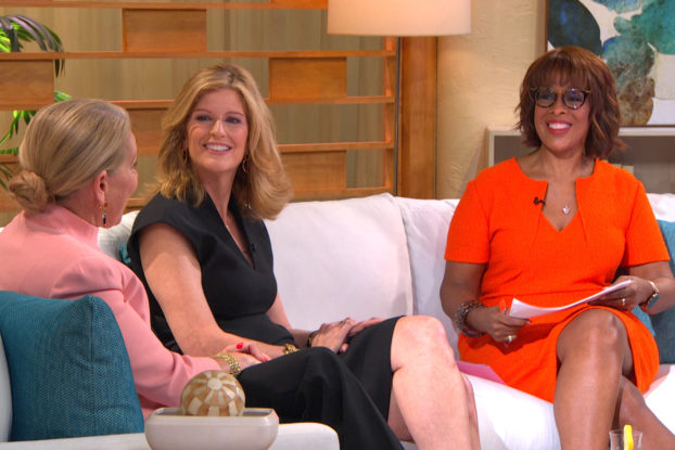 """gayle king, mindy grossman and kathleen moore during """"demand more for your money and health"""" series"""