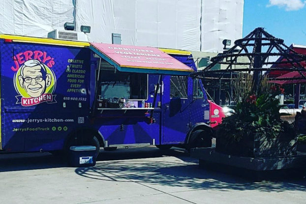 Jerry's Kitchen food truck parked in a public area.