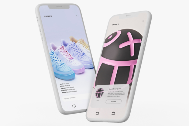 smartphones depicting the ntwrk shopping app