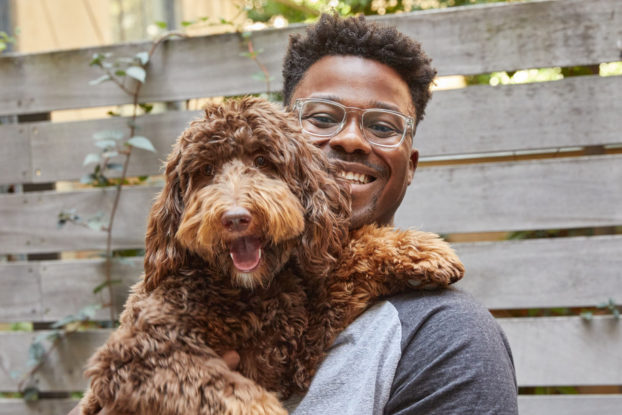 petplate founder renaldo webb and his dog cooper