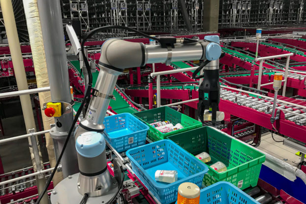 righthand robotics gripper at paltac corp. warehouse