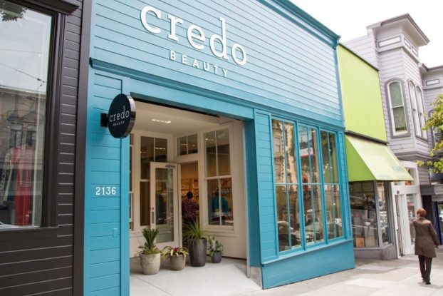 exterior of credo beauty store location