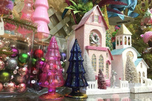 holiday decor display by Sneeds Nursery