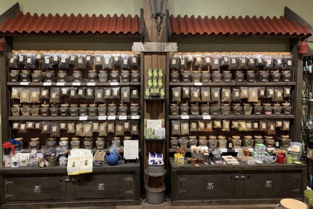 Interior product shelves of The Spice and Tea Exchange of Haddonfield.