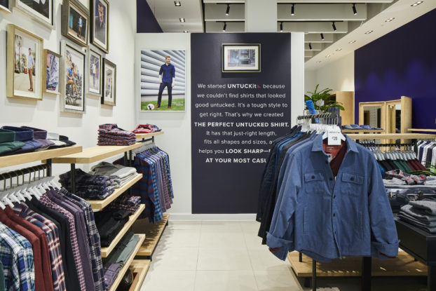UNTUCKit interior of westfield london location