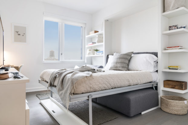 co-living bedroom at ollie