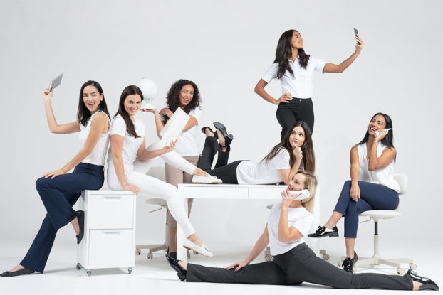 group of women wearing betabrand clothing