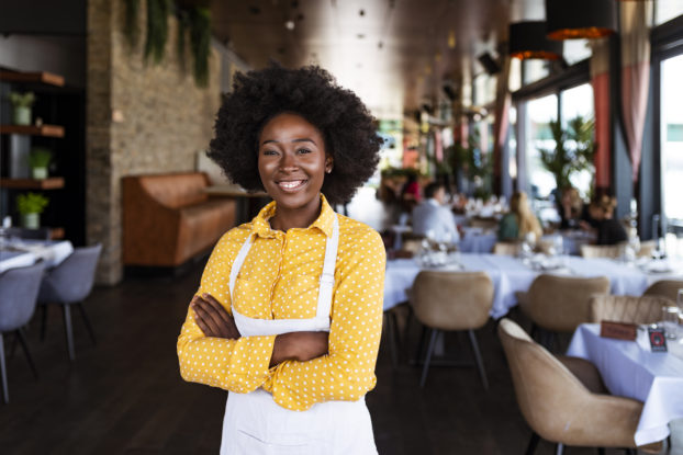 Female business owner in restaurant