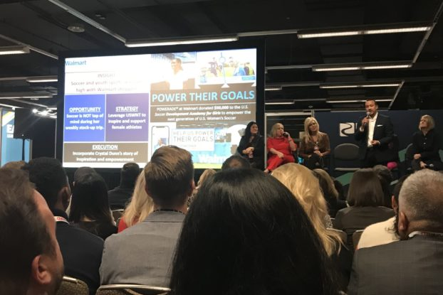 Joseph Vizcarra, Coca-Cola group vice president of shopper marketing for Walmart and Sam's Club, details a recent promotional campaign at the Path to Purchase Expo (P2PX).