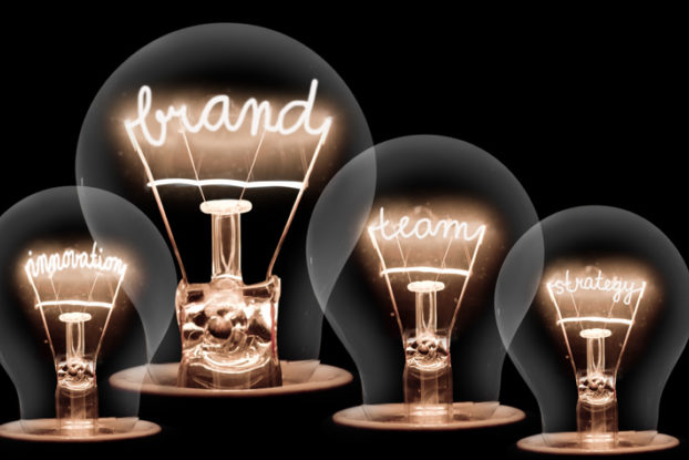 lightbulbs with words